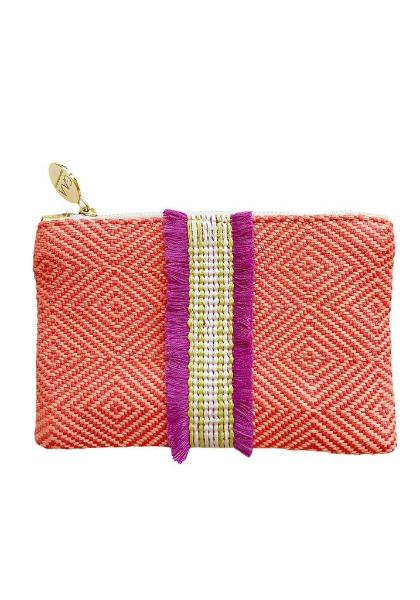 Gaia Raffia Small Clutch