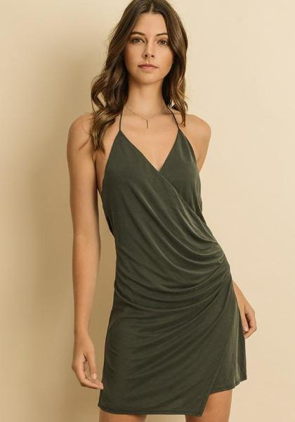Dress Forum Shirred Front Backless Dress