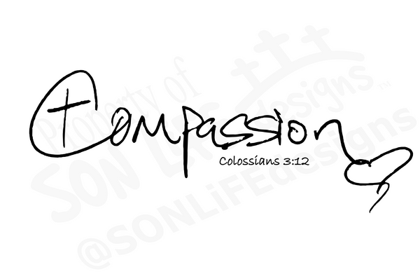 """Compassion"" Ladies' short sleeve t-shirt"