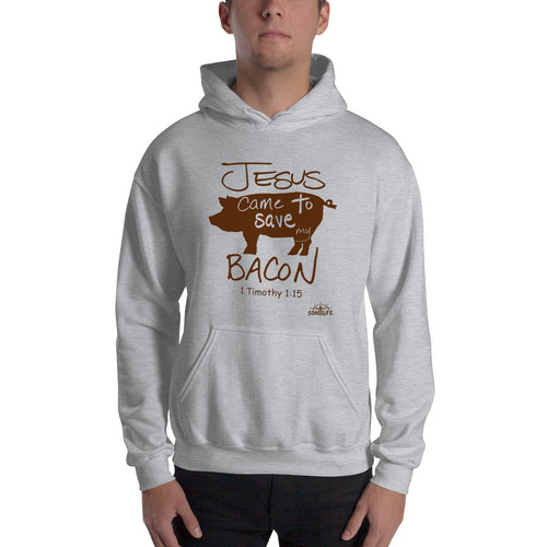 """Jesus Saved My Bacon"" Hooded Sweatshirt"
