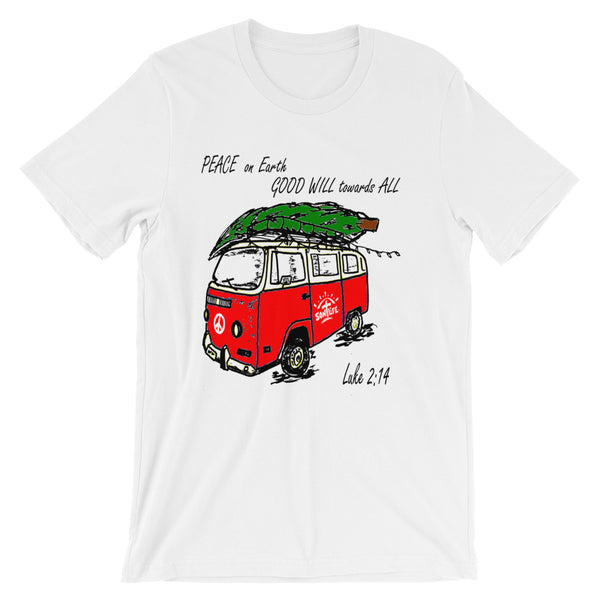 """Peace on Earth"" Christmas Short-sleeve T-Shirt Unisex"