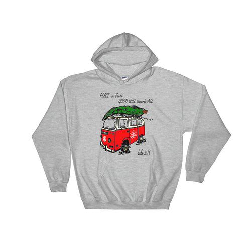"""Peace on Earth"" Hooded Sweatshirt Unisex"