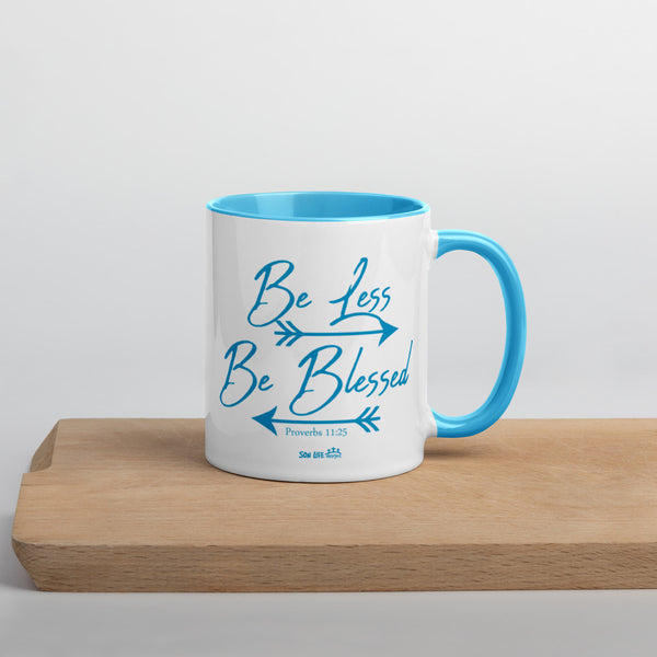 """Be Less, Be Blessed"" Mug (Blue, Black, Yellow, or Red)"