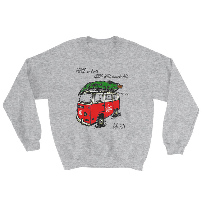 """Peace on Earth"" Christmas Sweatshirt Unisex"