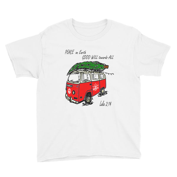 """Peace on Earth"" Youth Short-sleeve T-Shirt Unisex"