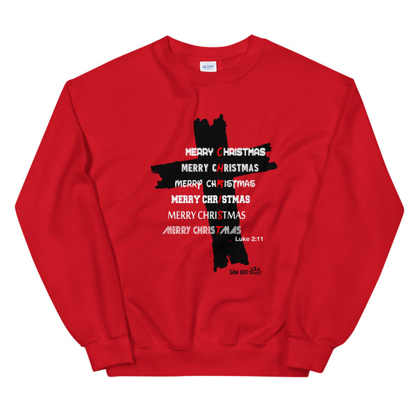 """Merry CHRISTmas"" Unisex Sweatshirt"
