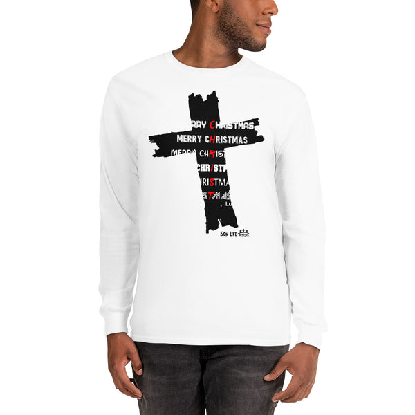 """Merry CHRISTmas"" Men's Long Sleeve Shirt"