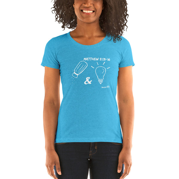 """Salt & Light"" Ladies' short sleeve t-shirt"