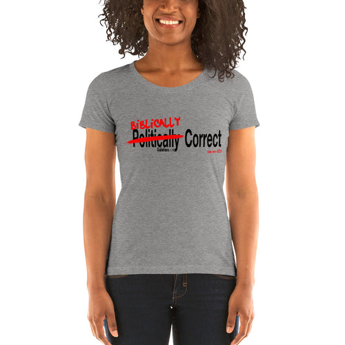 """Biblically Correct"" Ladies' short sleeve t-shirt"