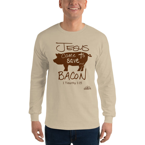 """Jeus Saved My Bacon"" Long-sleeve T-Shirt"
