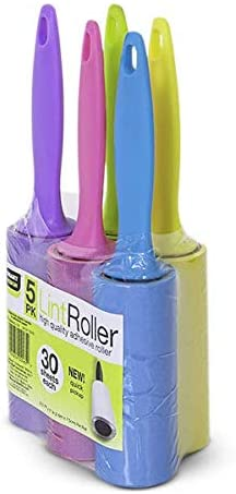 5- Pack Mini Lint Roller With Ergonomic Grip Handle