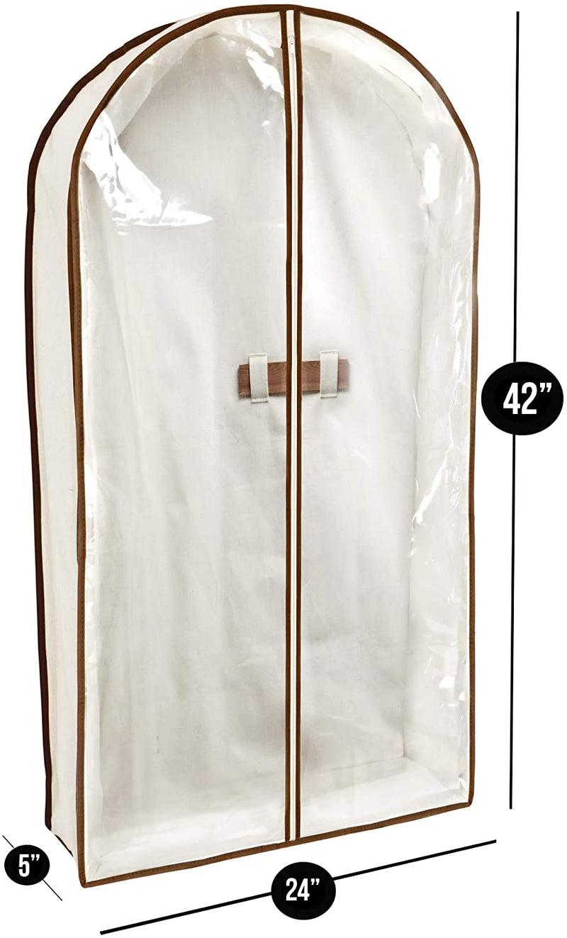 Canvas Gusseted Suit Garment Bag