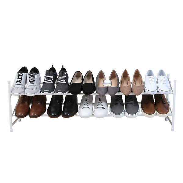 2-Tier Stackable Expandable Steel Metal Shoe Rack
