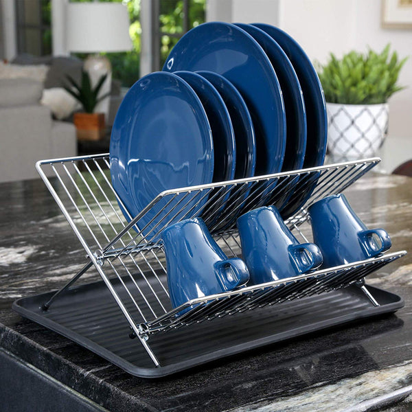 Kitchen,Chrome Folding Dish Drainer
