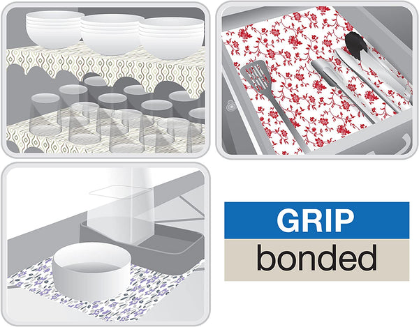 Smart Design Shelf Liner Grip Bonded