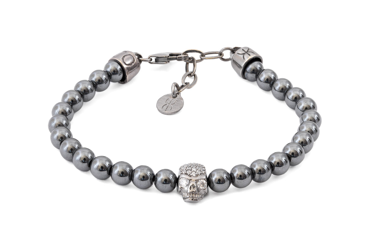 SKULL GREY DIAMOND