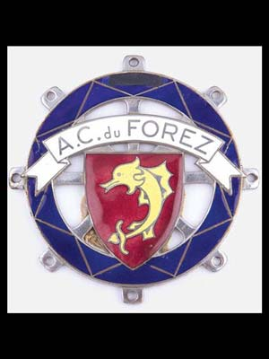Automobile Club du Forez member's badge, France