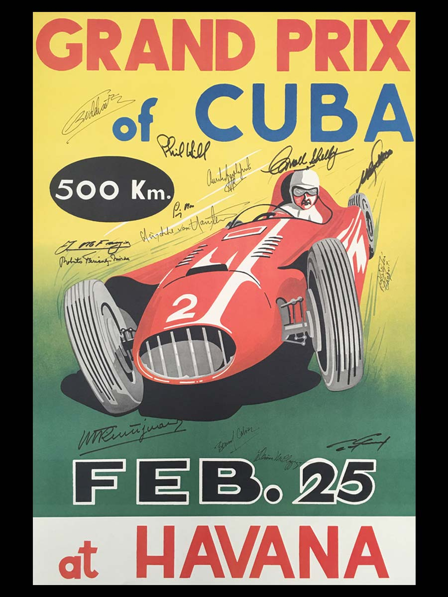 The GP of Cuba 1958 Race Poster