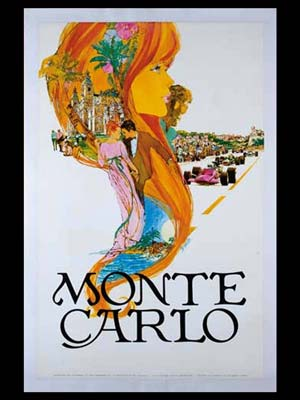 Monte Carlo original tourism poster by Steve Carpenter