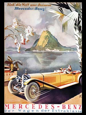 Mercedes-Benz advertising poster by Walter Muller