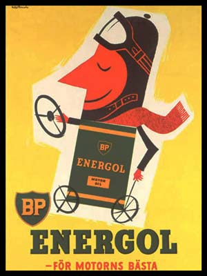 BP-Energol advertising poster