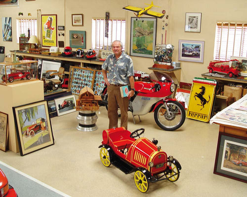 Owner Jacques Vaucher in his gallery