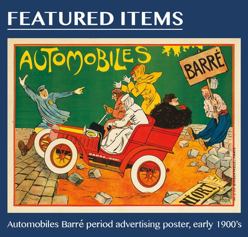 Automobiles Barré period advertising poster