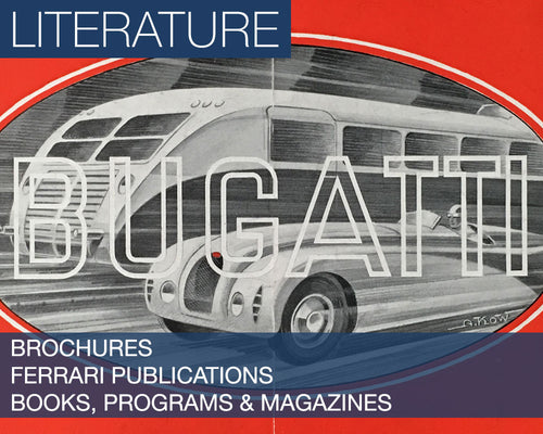 The Literature Collection - Featuring Brochures, Books, Programs, and Magazines, as well as a Special Section for Ferrari Publications