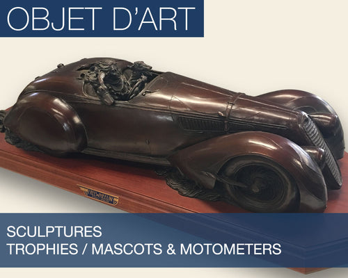The Objet D'Art Collection - Featuring Sculptures, Trophies, Mascots and Motometers