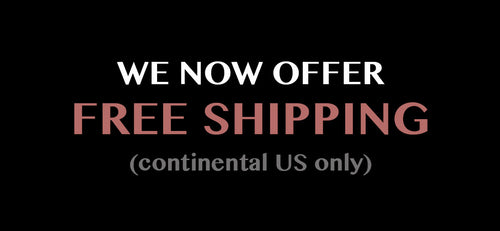 We now offer Free Shipping