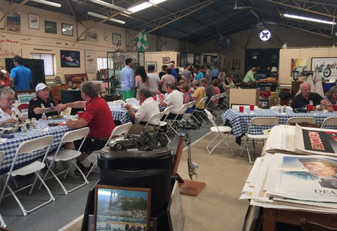 A luncheon in the barn/gallery
