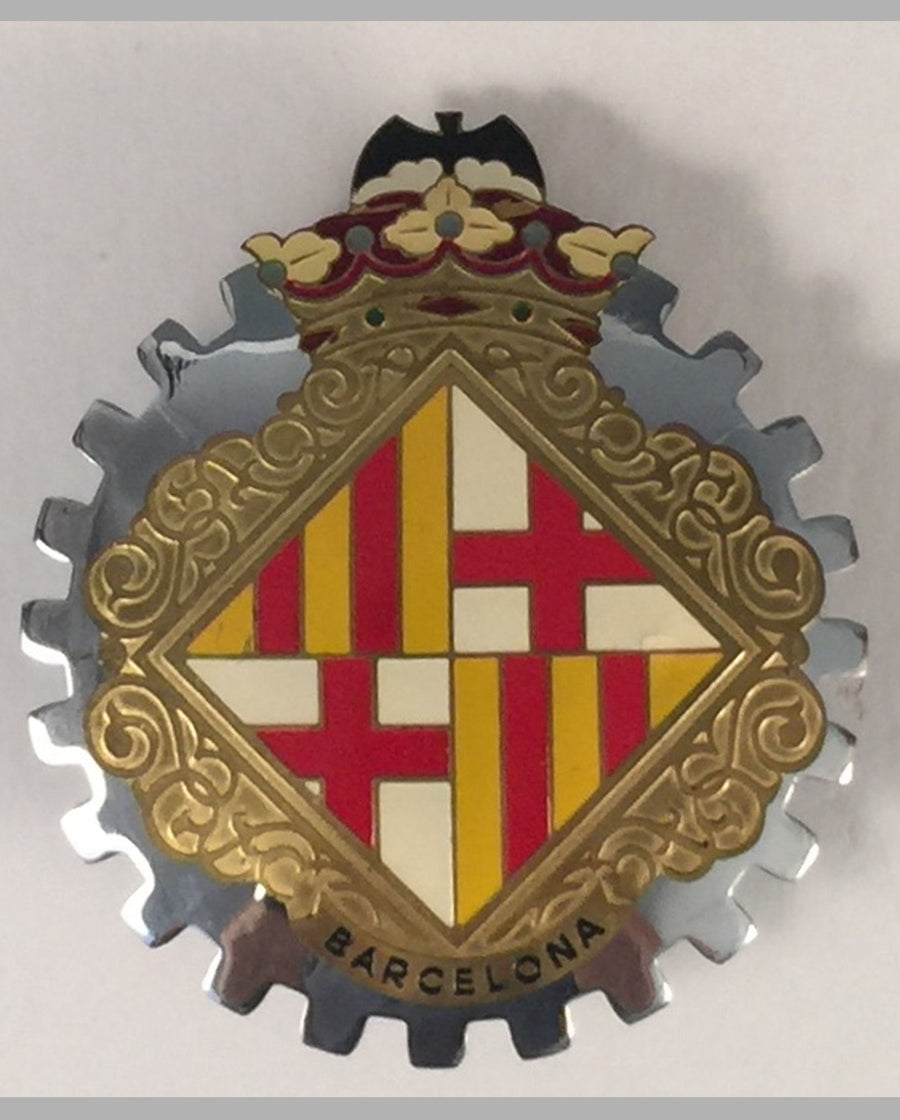 Barcelona (Spain) car grill badge