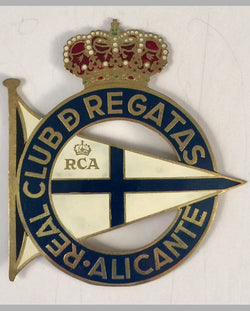 Real Club de Regatas Alicante (Spain) car grill badge