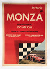 Lotteria di Monza Race Poster showing Clay Regazzoni's Ferrari