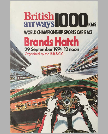 1000 km of Brands Hatch 1974 original race poster