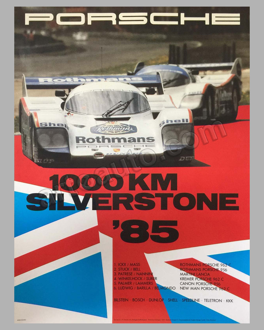 1000 km of Silverstone 1985, victory poster