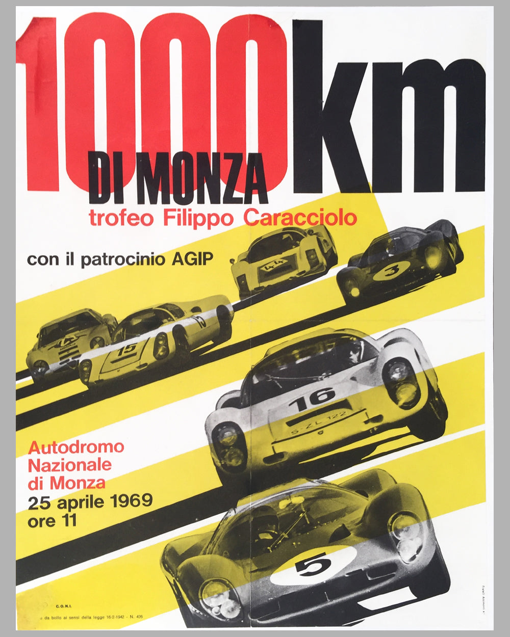 1969 - 1000 KM di Monza official poster