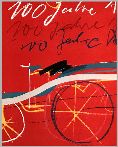 100 Jahre Automobil commemorative poster by Alfred Benz and Rolf Teufel 2
