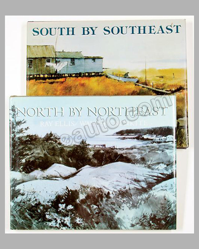 2 South by Southeast and North by Northeast books by Walter Cronkite