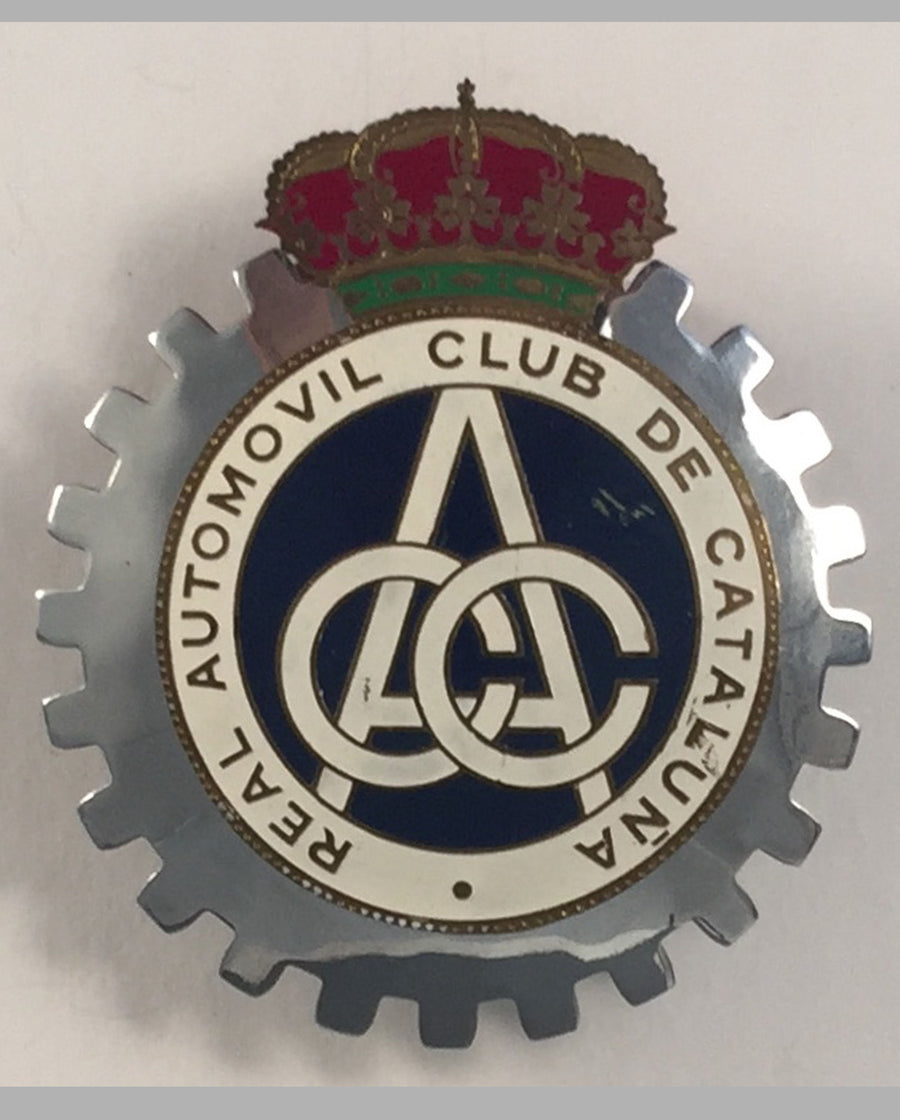 Real Automovil Club de Cataluña (Spain) car grill badge