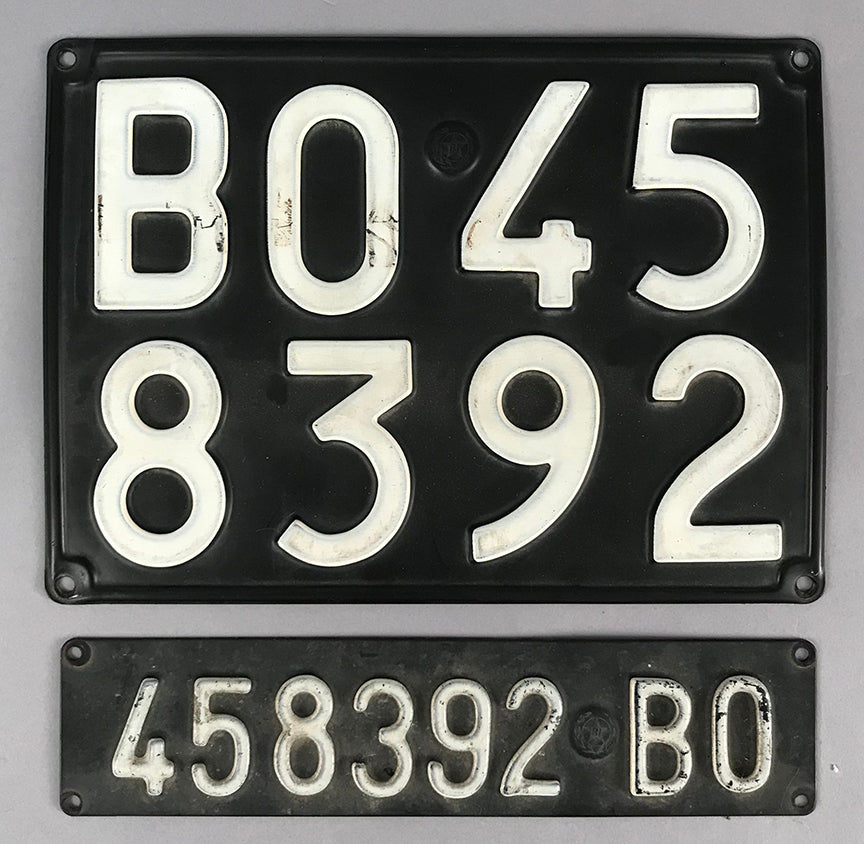 Pair of Vintage Italian License Plates