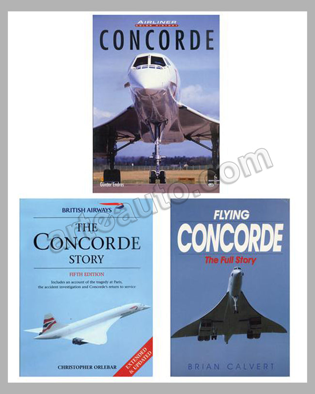 Lot of 3 Concorde supersonic airliner books