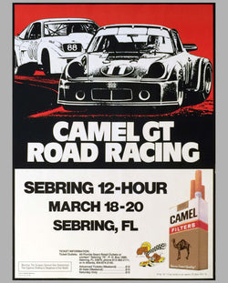 12 Hours of Sebring 1976 original poster