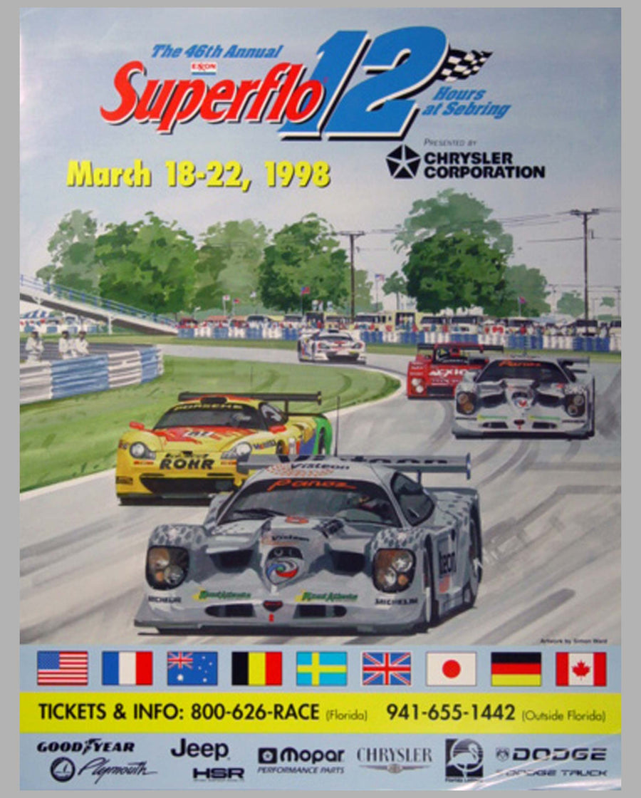 12 Hours of Sebring 1998 official event poster