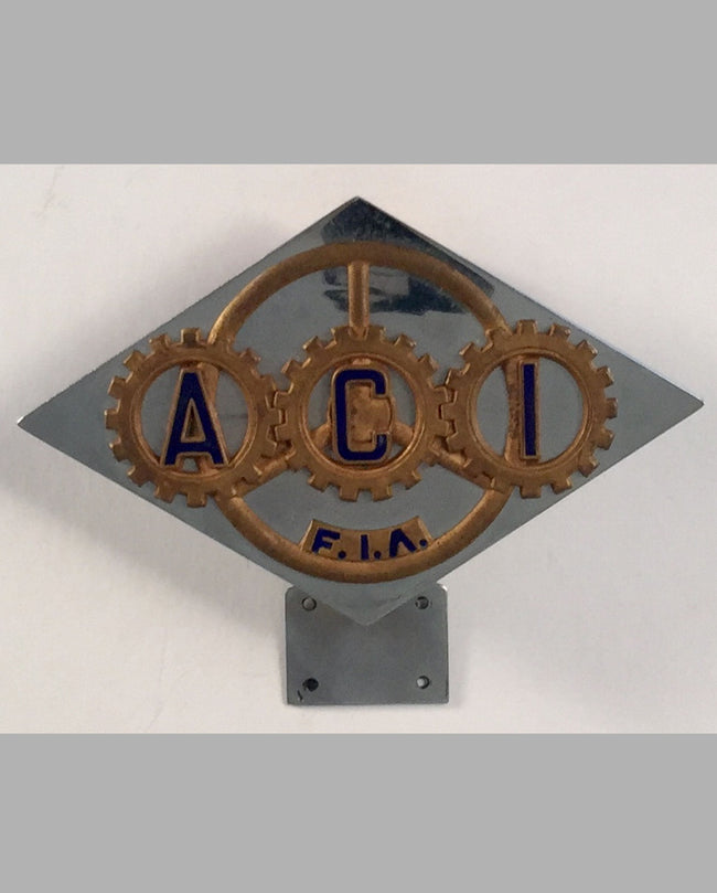 ACI (Automobil Club of Italy) car bumper badge
