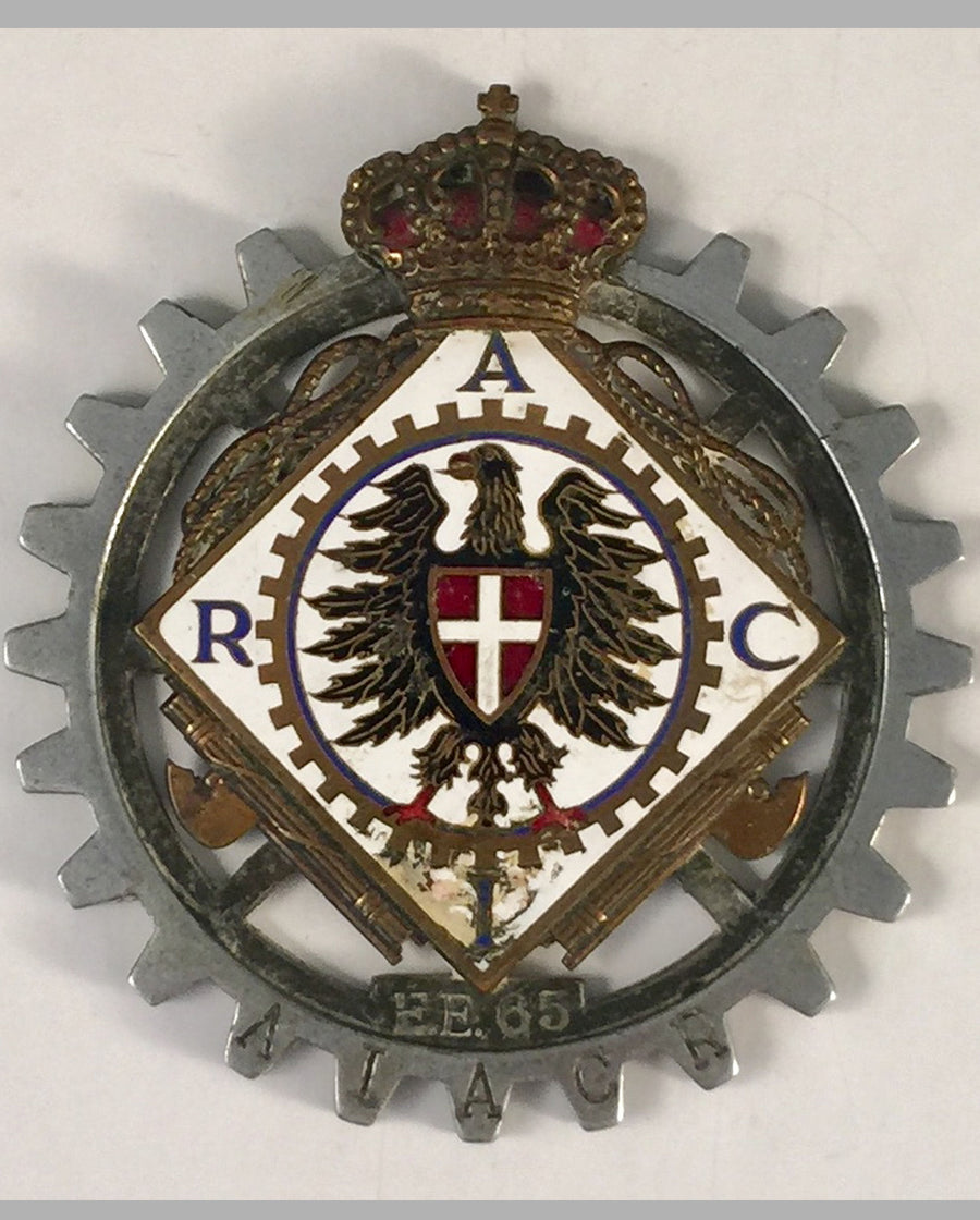 RACI (Royal Automobile Club of Italy) car grill badge
