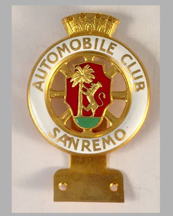 Automobile Club San Remo (Italy) car bumper badge