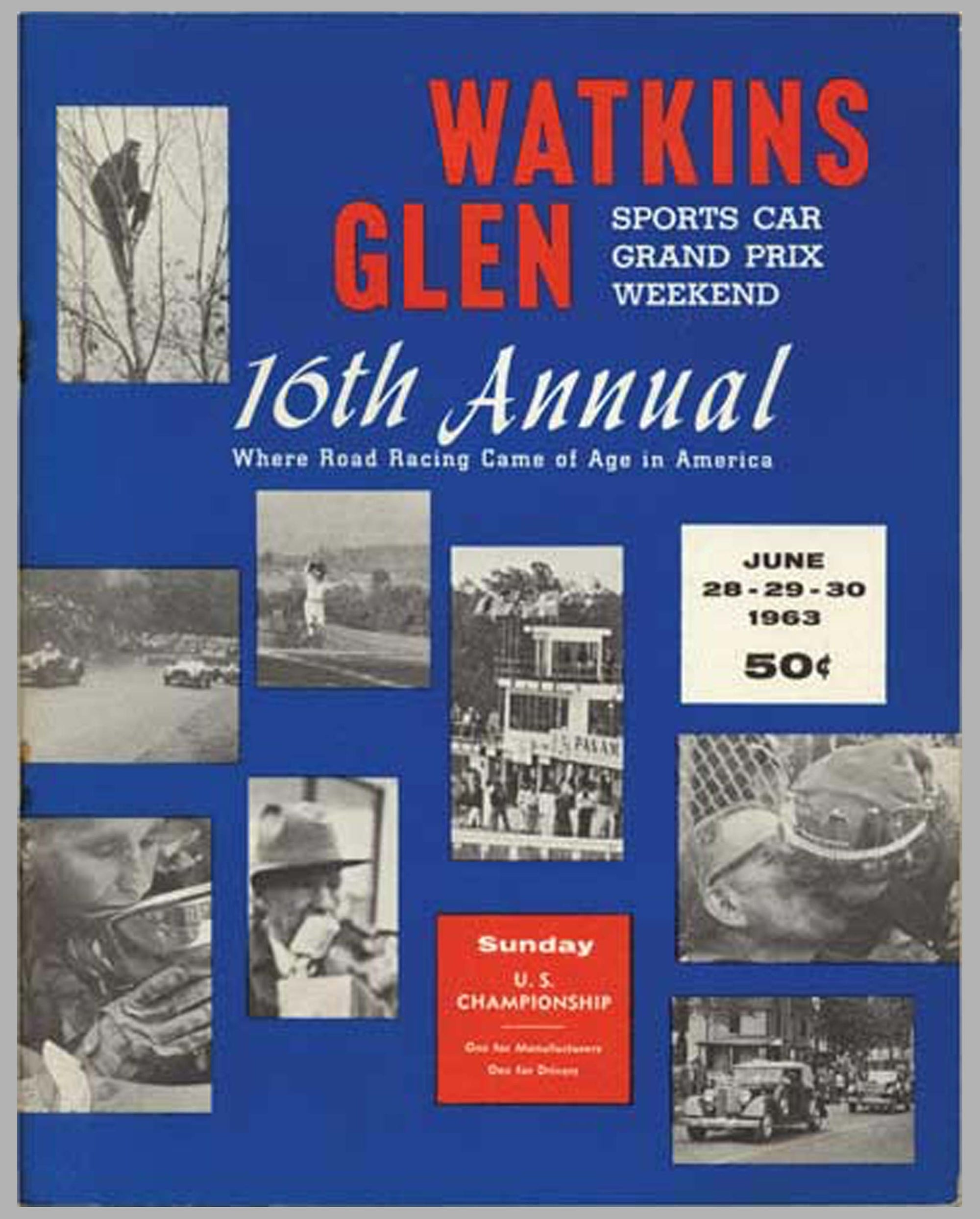 16th Annual Sports Car U.S.G.P. Watkins Glen 1963 program