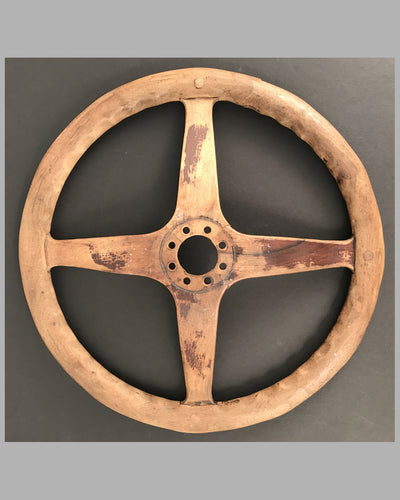 Early 1900's wooden steering wheel, American 2