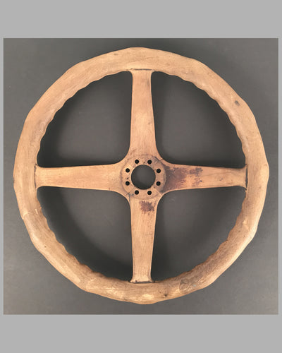 Early 1900 wooden steering wheel, American